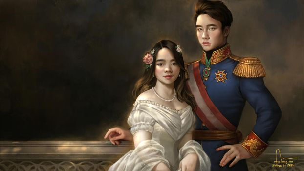 Commission : Dephita and Do Kyung Soo by IndahAlditha
