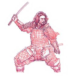 Last Samurai Pen and Ink Sketch by canosard