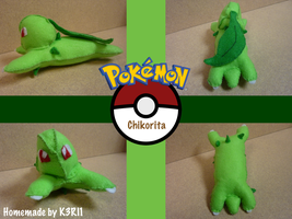 Chikorita Plush by K3RI1
