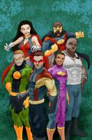 Super Clyde - Team Comic Cover by vytera