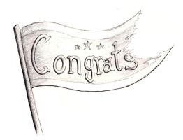 Day 30 - Draw a congrats banner by Feuerlilie