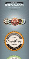 5 Glossy Retro Badges by frankschrijvers