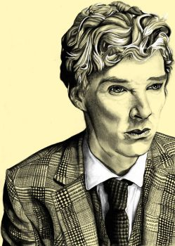 Portrait - Benedict Cumberbatch by Fluffball264