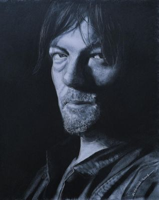 Daryl Dixon Charcoal 2 by aGrimmDesign