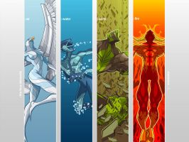 Four Elements : wallpaper by CrisVector