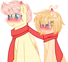 | + Lucas x Charllie {MLP/Base/Couple} + | by TheChoccoBear