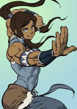 Korra but 6 years late by Pokkuti