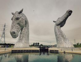 The Kelpies by martinemes