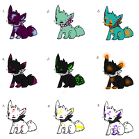 Some Fox Adoptables --2 left for 1 point each-- by LoveMuffin300