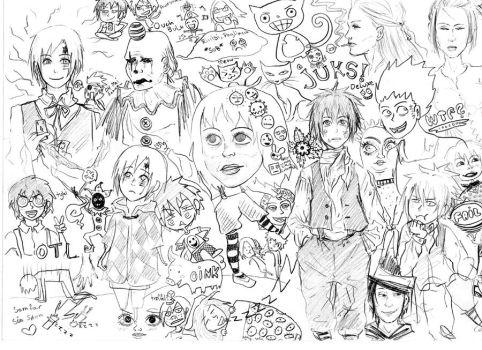 Old sketches 'DGM etc' by Relory