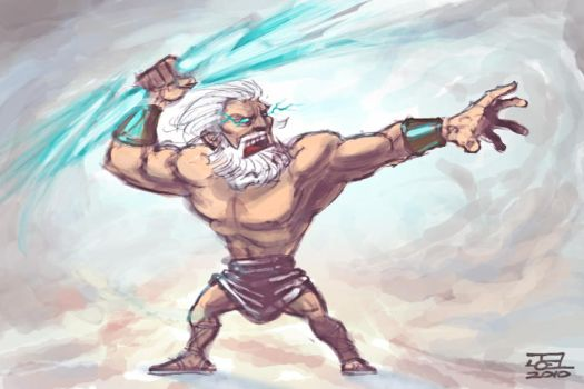 Zeus Sketch by Braddock