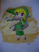 Link and his Spirit Flute by DeppObession10