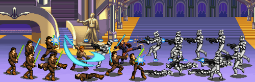 Attack on the Jedi Temple (2nd version) by BeeWinter55