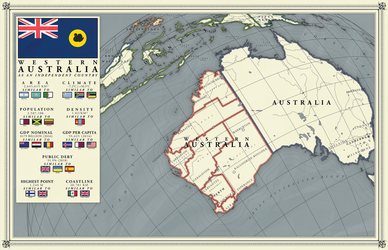 Western Australia as an independent country by pavelzuk