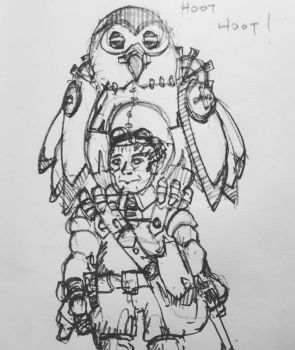 MechanizeDND Owl and Halfling Artificer by MArchCO