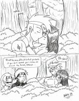 Naruto: Awkard forest by Bellette
