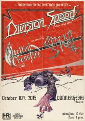 Division Speed Album release concert flyer by Skinperforator