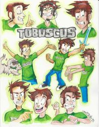 Tobuscus (Adventures!) Character Designs by ErinDromeda
