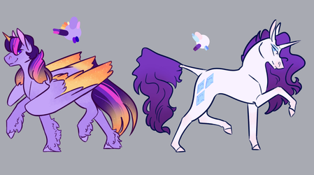 Even More Pretty Pastel Horsies by NightshadeTheRanger