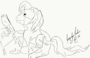My Little Artist Pony by jacquelynvansant