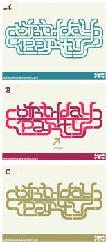 Birthday Party Logo versions. by schakalwal