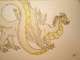 Harvest Moon, the Dragon/Wyvern Hybrid  by aerithedrgn