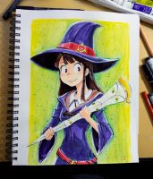 Akko- Little Witch Academia - Inktober 2015 day 19 by Dr-Carrot