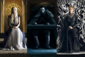 The Three Thrones | Game of Thrones by CAraracap