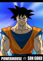 Son Goku is a Powerhouse by RODCOM1000