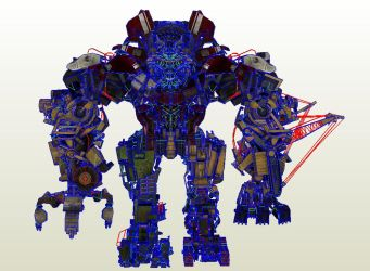 Transformers Revenge Of The Fallen PC Devastator by PapercraftKing