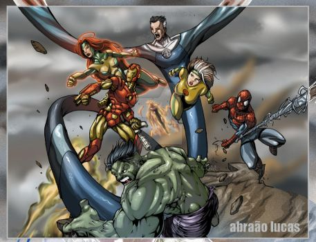 Marvel Characters by psychoheat