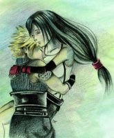 Awakening - Cloud and Tifa by lonelymiracle