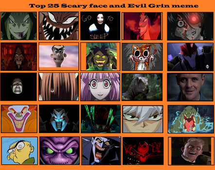 Top 25 Scary face and evil grins by NTSEFAN