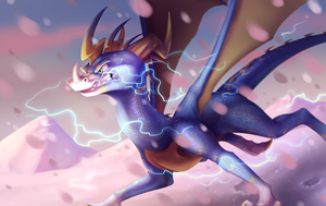 Lightning In The Snowstorm by IcelectricSpyro