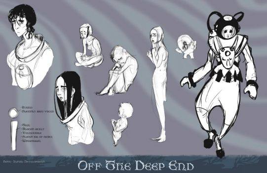 Beth- Initial Sketches by DragonicDarkness