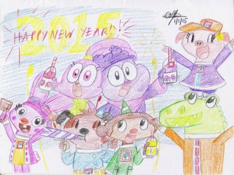 Happy New Year 2015 - 2 by murumokirby360