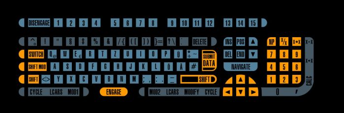 LCARS keyboard by CptRick