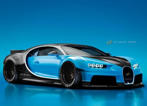 Bugatti Rendering by akdigitaldesigns