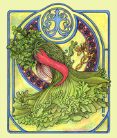 Art nouveau Spices and Vegetables by MariAnrua