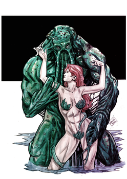 Swamp thing and Poyson Ive by cloves by cloves-rodrigues
