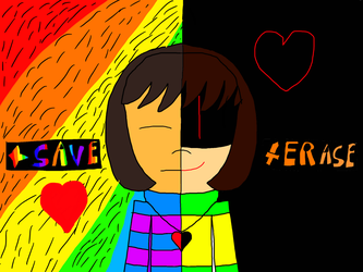 Frisk and Chara by Caty2016