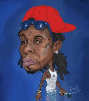 Lil Wayne Caricature by stahlk