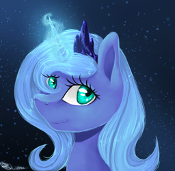 happy Luna by SsilverBeeze