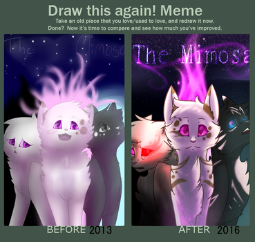 The Mimosa : Draw This Again Meme : Speedpaint by Shademimosa