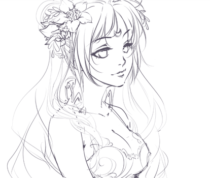 WIP: Princess Serenity by Emily-Fay