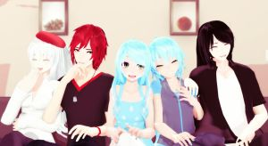 [MMD] LAUGH Toghether // POSE DL+ by NanamiHaruko