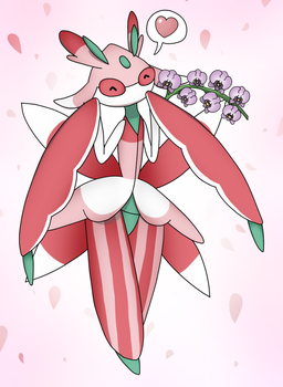 Lurantis with a orchids by CyaniDairySentinel