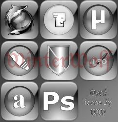 Transparent glossy dock icons by WinterWerewolf