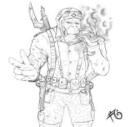 Orc sketch soldier army
