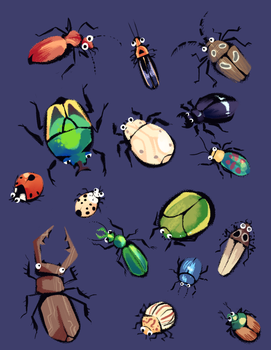 Beetles by Bedupolker